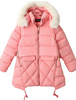 Girl's Black / Blue / Pink Down & Cotton Padded,Dresswear Cotton Winter / Fall