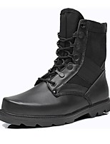 Women's Shoes Leather Flat Heel Riding Boots/Combat Boots Boots Outdoor/ Office & Career /Work & Duty/Casual Black