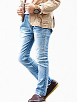 Boy's Cotton Jeans,All Seasons Color Block