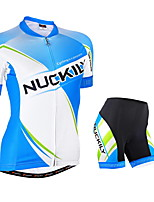 Sale -NUCKILY summer new female short-sleeved jersey suit riding pants mountain bike  fleet EDITION