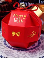 10pcs partie chinoiserie boîte de bonbons creux faveurs de mariage sacs-cadeaux avec ruban