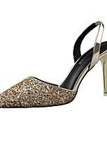 Scarpe Donna-Scarpe col tacco-Matrimonio / Formale / Serata e festa-Tacchi / A punta-A stiletto-Lustrini-Rosa / Rosso / Argento / Dorato