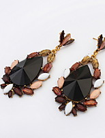 Super Statement Water Drops Shaped Chocolate Dangle Earrings for Women Nightclub Party Dress