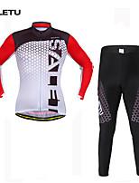 Conjuntos de Roupas/Ternos(Vermelho) - deAcampar e Caminhar / Pesca / Fitness / Ciclismo / Trilha / Motorbike-Unissexo-Respirável /