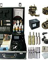 Basekey Tattoo Kit 3 Guns JHK0153 Machine With Power Supply Grips Cleaning Brush Ink Needles