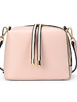 Women PU Shell Shoulder Bag / Satchel-White / Pink / Black