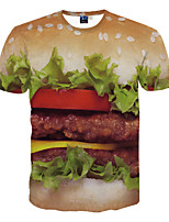 3D Pattern  Male As Picture Cosplay Hamburger T-shirt