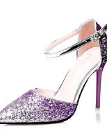 Women's Shoes Glitter Stiletto Heel Heels Heels Casual Blue / Purple / Red / Gold