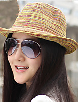 Tails Rainbow Woven Straw Hat Bohemia Female Summer Beach Hat
