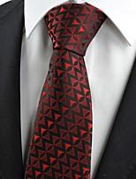 New Red Black Arrow Pattern Unique Men's Tie Necktie Wedding Holiday Gift KT0060