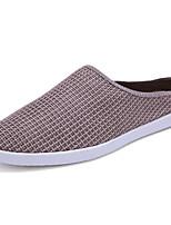 -Для мужчин-Для прогулок Для офиса Повседневный-Лён Ткань-На плоской подошве-Удобная обувь-Мокасины и Свитер