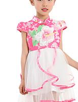 Mädchen Kleid Baumwolle / Polyester Sommer Blau / Rosa / Gelb