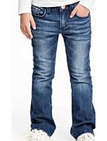 Frayed Flared Fashion Girls Jeans