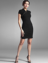 Baoyan® Women's V Neck Short Sleeve Above Knee Dress-150448