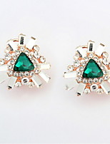 Hot Sale Mix Colors Triangle Shaped Rhinestone Stone Alloy Stud Earrings Women's / Couples' / Unisex Acrylic Earrings