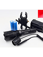 LED Flashlights/Torch LED 3 Mode 500 Lumens Waterproof Cree Q5 18650Camping/Hiking/Caving / Diving/Boating / Cycling /