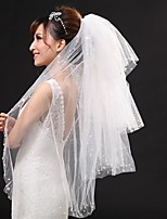 Wedding Veil Three-tier Fingertip Veils Cut Edge