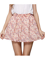 Women's Print Pink Skirts,Casual / Day / Holiday Mini