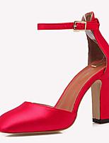 Chaussures Femme-Décontracté-Noir / Rouge / Gris / Orange-Gros Talon-Talons-Talons-Laine synthétique