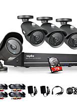 SANNCE® 8CH 960H DVR 4PCS 1000TVL IR Weatherproof Outdoor CCTV Camera Home Security Surveillance Kits CCTV System