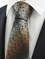 Unique Brown Gradient Swirl Paisley Pattern JACQUARD Men' Tie Necktie Gift KT0044