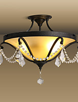 Modern Classic Black Metal Ceiling Lights with Glass Shades, Living room Bedroom Dining Room Bar Cafe Hallway Balcony