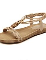 Women's Shoes Bohemian Style Slip On Flat Heel Comfort / Open Toe Sandals Outdoor / Casual