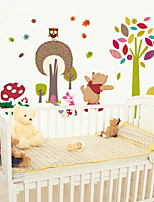 Wall Stickers Wall Decals, Cute Cartoon Owl Bear Baby PVC Wall Sticker