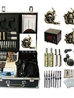 Basekey Tattoo Kit K0153 3Guns Machine With Power Supply Grips Cleaning Brush Needles
