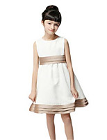 Girl's Beige Dress Cotton Spring / Fall