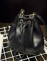 Women PU Barrel Shoulder Bag-White / Red / Black