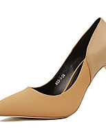 Women's Shoes PU Stiletto Heel Heels Heels Casual Black / Brown / Pink / Red / Gray / Khaki