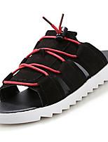 Sapatos Masculinos-Chinelos-Preto / Amarelo / Cinza-Sintético-Casual