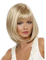 vrouwen korte cosplay krullend synthetisch haar pruik blonde