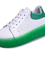 Women's Shoes PU Platform Comfort Fashion Sneakers Outdoor / Work & Duty / Athletic / Casual Blue / Green / White
