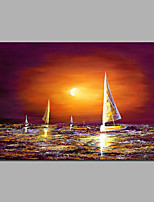 Sunrise Painting Boat Size 16*24 Inch and 24* 36 inch Can Be Choosed