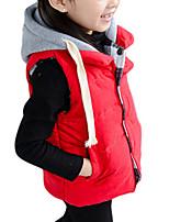Girl's Red / Yellow Jacket & Coat,Cartoon Cotton Winter