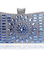 Women Metal Minaudiere Evening Bag-Blue