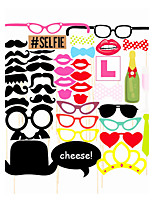43PCS Card Paper Photo Booth Props Party Fun Favor