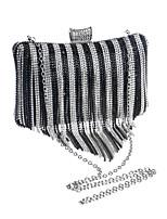 L.west Women Personality Diamonds Tassel Evening Bag