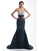 Formal Evening Dress Trumpet/Mermaid Sweetheart Court Train Taffeta