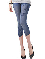 Brand Fashion Women Print / Denim Legging,Polyester Thin Sexy