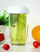 1PC 200ML 6*6*15cm ABS  Creative Gifts Double Transparent Juice Manually Stirring Cup