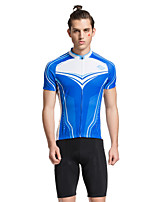 Tasdan Cycling Wear Cycling Clothing Men's Cycling Sets  Cycling Jerseys Short sleeve Blue + Cycling Shorts