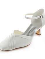 Синий / Розовый / Айвори / Серебристый / Цвета шампанского-Свадебная обувь-Женский-На каблуках / С квадратным носком-Обувь на каблуках-