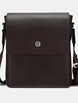 Men PU Messenger Shoulder Bag / Satchel-Brown / Black