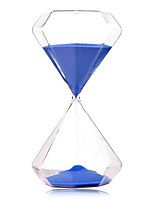 30 Minutes Pastoral Style Hourglass for Home Decoration 5pc/set