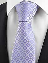 New Violet Purple Gradient Checked Men's Tie Necktie Wedding Holiday Gift KT0074