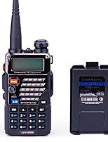 BaoFeng UV-5RB Talkie-Walkie 5W/1W 128 136 - 174 MHz / 400-520MHz 1800mAh 1,5 - 3 kmRadio FM / Invite Vocale / Bi-Bande / Double