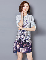 2016 Summer Women Chinese Style Retro Fashion Loose Ink Print Dress